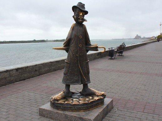 Estatua de Chéjov en Toms, Siberia