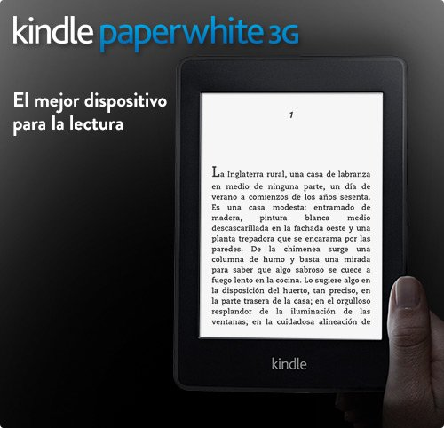 kindle paperwhite, ereader, lector digital