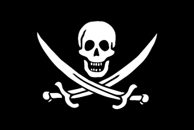 bandera pirata, libro pirata, libro digital