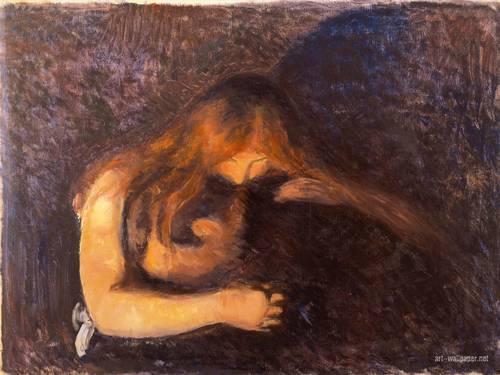 El vampiro, cuadro de Edvard Munch.