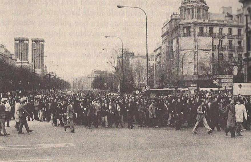 Día de entierro en La Castellana, el 26-1-1977. Fuente de la imagen
