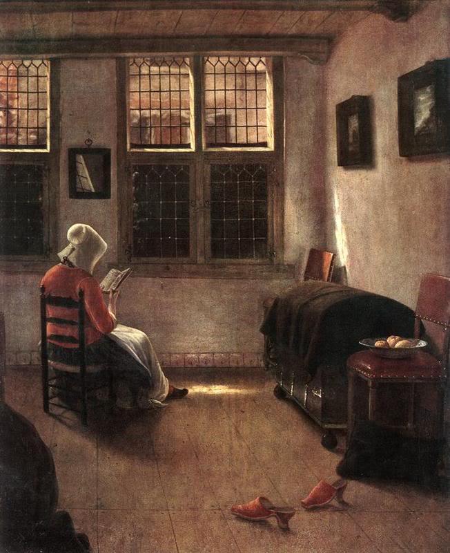 Mujer leyendo, de Elinga Pieter Janssen