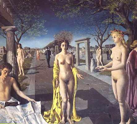 Paul Delvaux, cuento, manuel payno, amor secreto