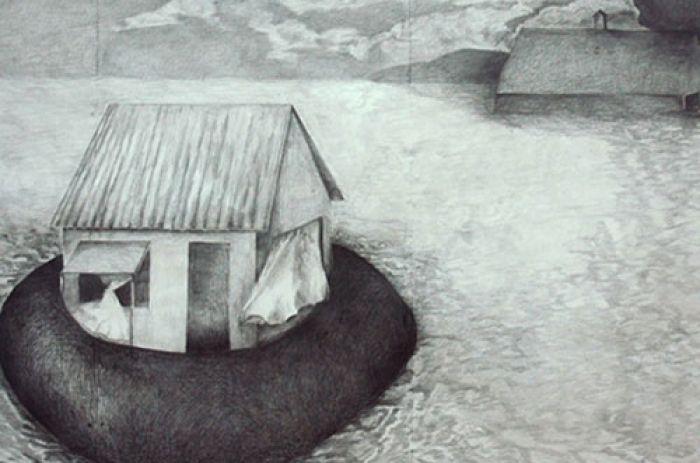 Casa inundada, microrrelato, Ernesto Bustos Garrido