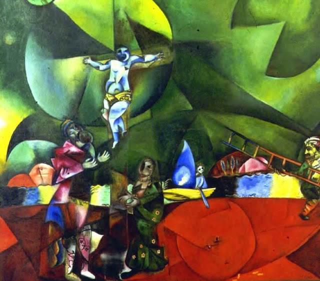 microrrelato, marc chagall, gólgota