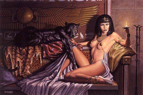 La belleza de la reina Cleopatra