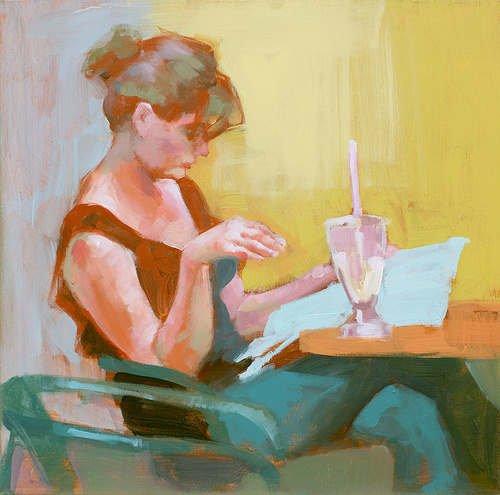 mujer leyendo, corrector de estilo