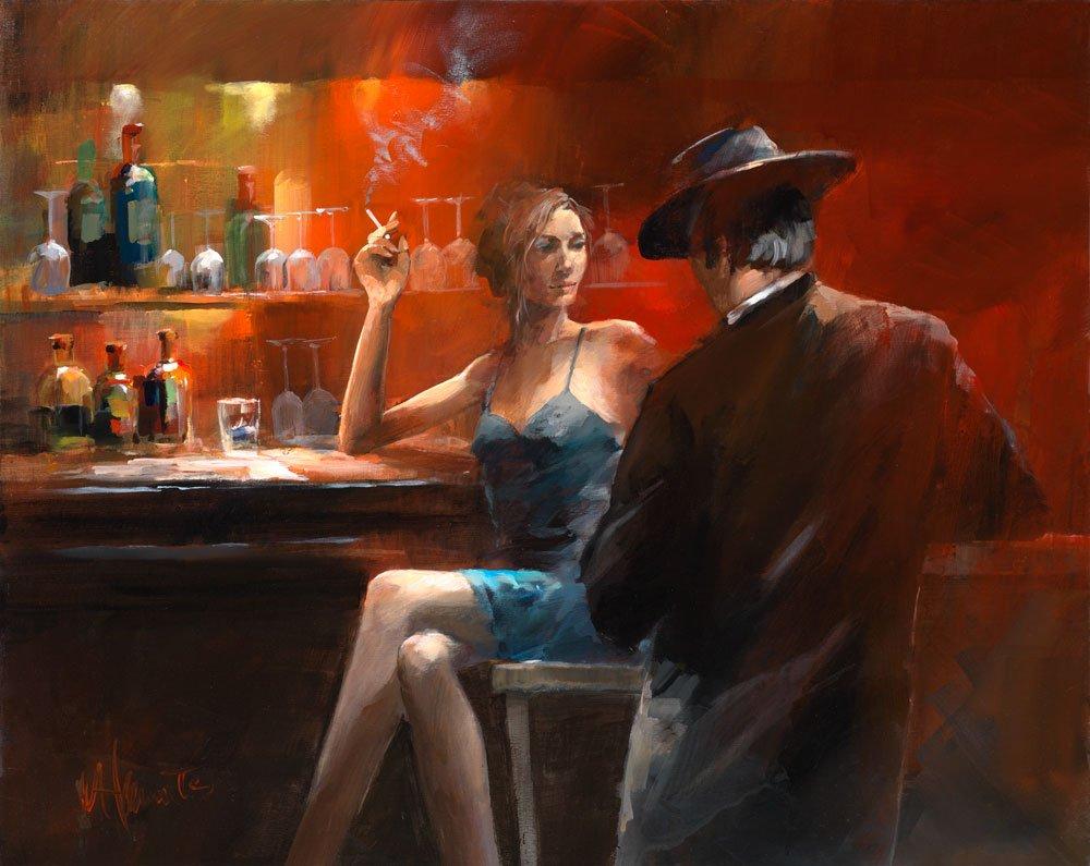 Poema,  Jaime Gil de Biedma, Idilio en el café