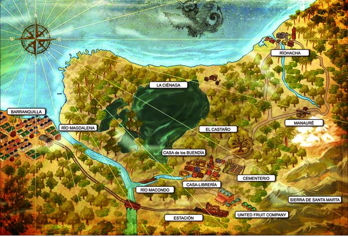 Mapa de Macondo