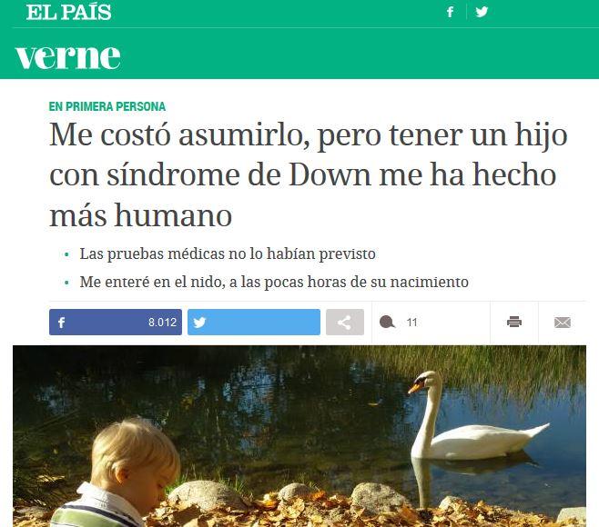 El diario down, Verne, El País