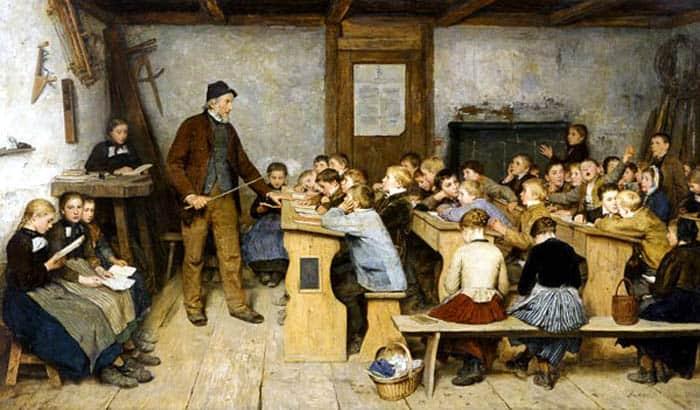 Escena-de-una-escuela-rural-del-pintor-Albert-Anker