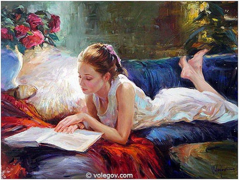 Leyendo en el balcón