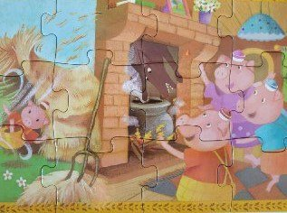 Los tres cerditos (puzle)