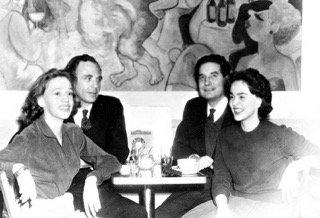 El cuarteto de París: Elena Garró, Adolfo Bioy, Octavio Paz y Silvina Ocampo