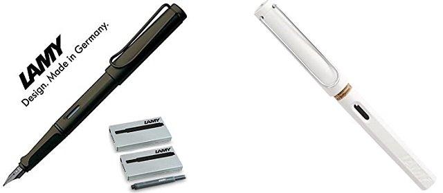 pluma estilográfica Lamy Safari (negra y blanca)